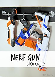 Boys room: Nerf Storage