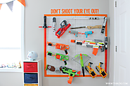 DIY Nerf Gun Storage - Inspiration Made Simple