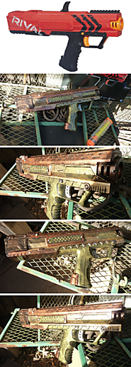 STEAMPUNK nerf RIVAL Apollo XV-700 Blaster - One of a Kind!!!