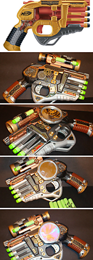 One of a kind STEAMPUNK NERF GUN