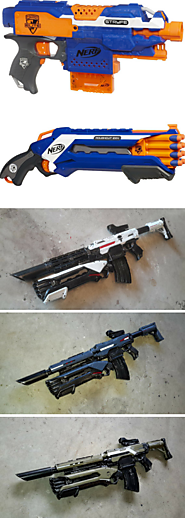 Custom stock nerf Stryfe masterkey made to order