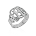 Sterling Silver Monogram Ring - Custom Made with Any Initial!
