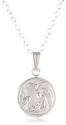 Sterling Silver Children's Petite Guardian Angel Pendant, 13""