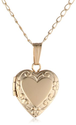 Children's 14k Gold Filled Heart Locket Pendant Necklace, 15""