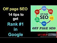 Off Page SEO step by step - 14 tips for OffPage SEO and get #1 rank in Google