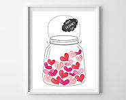 Jar of Hearts free printables - holiday printables