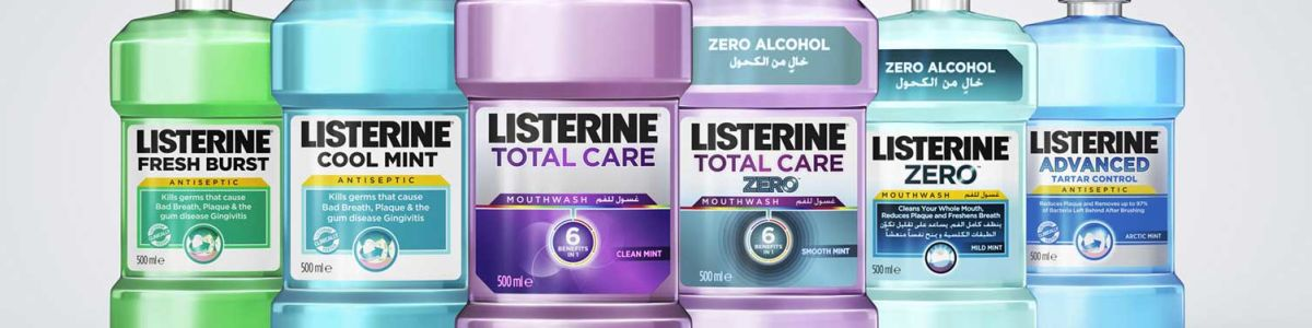 Headline for List of Listerine Mouthrinses