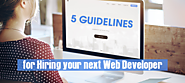 5 Guidelines for Hiring your next Web Developer