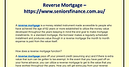 Reverse Mortgage Services by Senior Finance