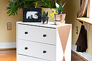 Make Over an Ikea Rast: Little Geometric Dresser!