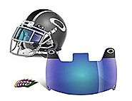 Oakley Football Shield, Blue, One Size