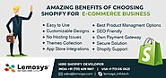 20 Benefits of Using Shopify for Online E-Store Development | Lemosys