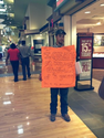 Girlfriend Punishes Her Boyfriend for Cheating by Making Him Stand in the Mall with a Sign - Is Public Humiliation a ...