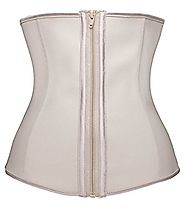 YIANNA Women's Zipper&Hook Hourglass Latex Waist Training Corset Body Shaper