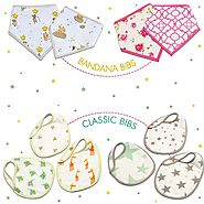 Shop Muslin Baby Bibs Collection at Little West Street