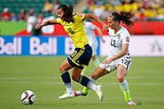 Yoreli Rincon, force in Colombia women's football game