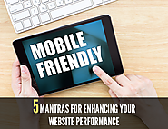 5 Mantras for enhancing your Website Performance