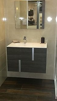 Wall mounted bathroom furniture