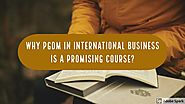 Why PGDM in International Business is a Promising Course? - TheFastr