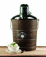White Mountain PBWMIME412-SHP Appalachian Series Wooden Bucket 4-Quart Electric Ice Cream Maker
