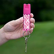 SABRE Red Pepper Spray - Police Strength - Pink Designer Label with Fight Against Breast Cancer Ribbons