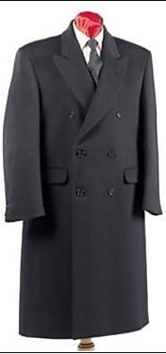 Get Comfortable Double Breasted Topcoat For Men