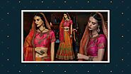 Latest Designer Wedding Lehenga & Indian Chaniya Choli Designs for engagement | Designersandyou 2017