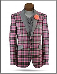 Perfect Fashion With Pink Suit Jacket Mens