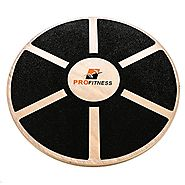 Prof itness Wooden Balance Board, Exercise, Fitness and Physical therapy, Non-Slip Safety Top, Tone Muscles, Strength...