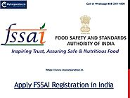 Apply Food License FSSAI Registration in India