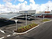 Car Parking Shade Structures For Shopping Centre