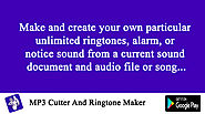 Ringtone Maker and MP3 Cutter Pro freeware for Windows Mobile Pocket PC.