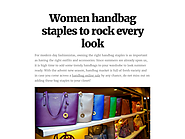 Women handbag staples to rock every look