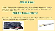 Mobility Scooter Covers at Outdoor Covers Canada
