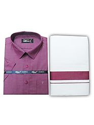 Fancy Border Matching Shirt - Purple