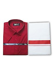 Fancy Border Matching Shirt - Red