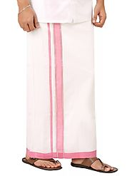 Gloriosa Fancy Border Double Dhoti