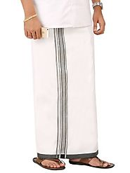 Parnell Silver Outer Border Dhoti