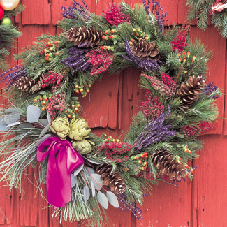 Headline for Christmas Door Wreaths