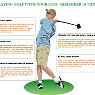 Playing Golf with Boss- 10 things shouldn't come out of your mouth
