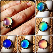 Website at http://www.mood-ringcolormeanings.com/how-does-a-mood-ring-work.html