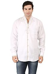 Rich Feel Party Wear Shirt Melanga Pipe Emboridered