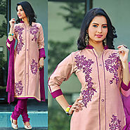 Light Pink Color Cotton Designer Salwar Kameez