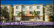 Fiore at the Gardens Condo RENTED! 3308 Myrtlwood Circle East