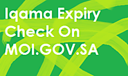 Check iqama expiry on website of moi gov sa