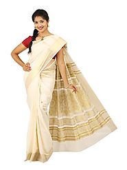 Off White Saree 66006 - 58321-002