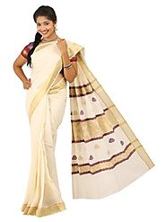 Off White Saree 66055 - 58319-003