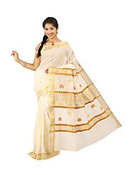 Off White Saree 66055 - 58319-006