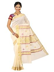 Off White Saree 66055 - 58319-010