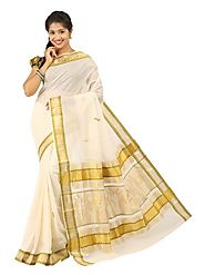 Off White Saree 66525 - 58318-014